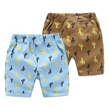 Boys Shorts Kids Clothes 2018 Brand Children Summer Beach Shorts for Boys Clothing  Print Cotton Baby Boy Short недорго, оригинальная цена
