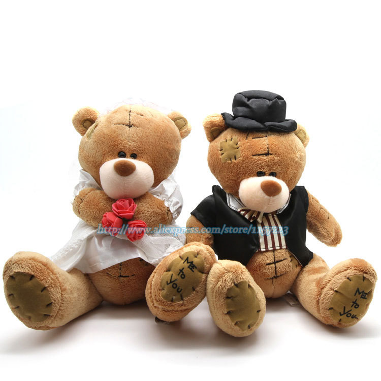 Toys For The Honeymoon : High quality pair big couple bear wedding teddy