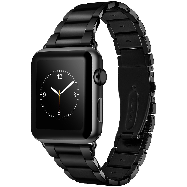 HOCO Collegamento Largo Cinturino In Acciaio Inox per Apple Watch Band Classic In Metallo Del Braccialetto di Vigilanza per iWatch Serie 4 3 2 1 44 millimetri 42 millimetri