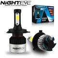2 шт. Nighteye 72 W/Set 9000LM H4 HB2 Автомобильные Светодиодные Фара, 6500 К подключи и Играй Противотуманные фары Лампы DRL Hi/Ближнего света Бесплатная Доставка