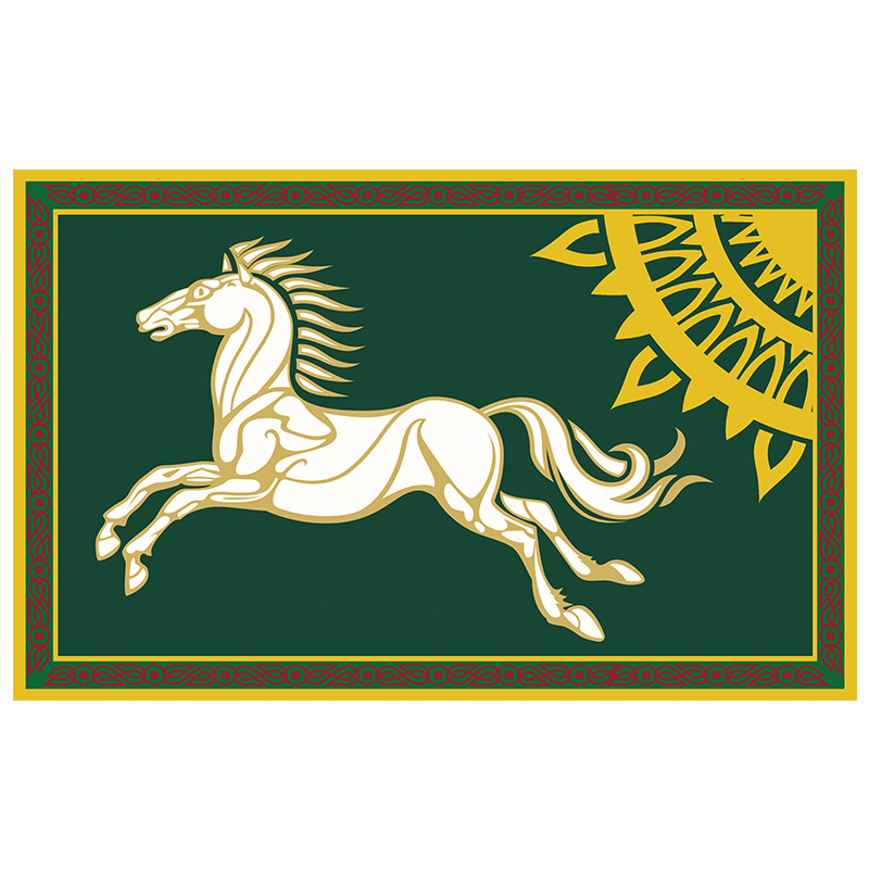 Free Shipping xvggdg flag 3x5ft Lord of the Rings Banner Horse Flag Large <font><b>90*150</b></font> Halloween Decoration image