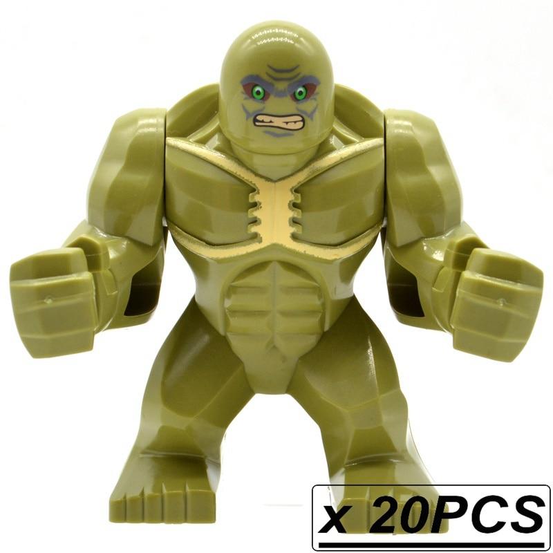 Wholesale Super Heroes 20pcs lot Abominations Hulk Building Big Figures Blocks Bricks Marvel MOC Kids Gifts