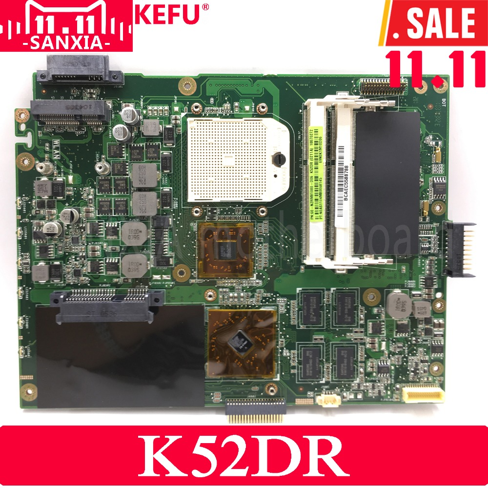 KEFU K52DR Laptop motherboard for ASUS K52DR A52DE K52DE A52DR K52D K52 Test original mainboard AMD 1G Video card мяч резиновый 10 см
