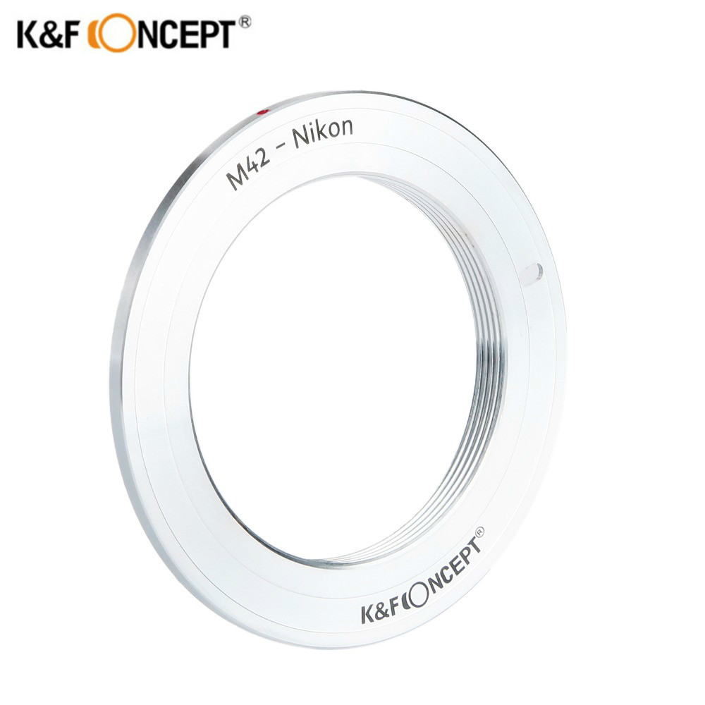 K&F Concept Lens Adapter Ring M42 Mount Lens to Nikon Camera Body Mount free shipping m42 lens for sony body adapter ring