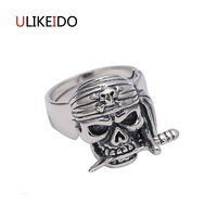 Pure 925 Sterling Zilveren Sieraden Hokage Vier Generaties Banshee Schedel Ring Mode Piraat Skelet Punk Mens Zegelringen 296