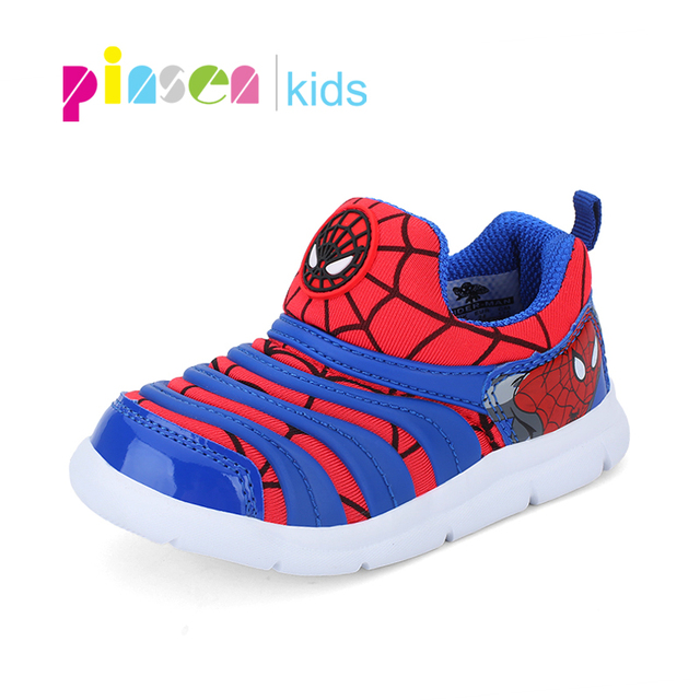 2019 Spring Spiderman Children Shoes For Boys Sneakers Girls Sport Child Casual Light Breathable Baby Boys Flats Kids Shoes 1