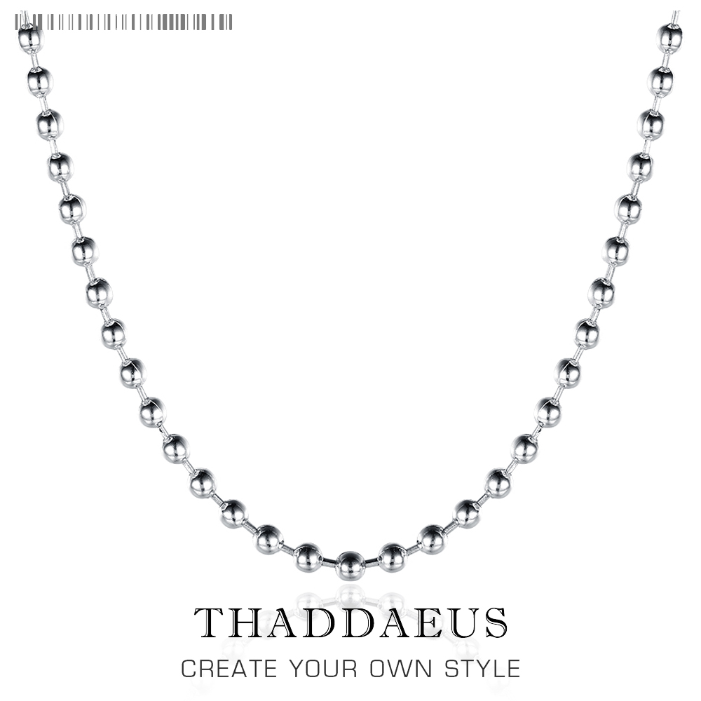 2mm Pearl Chain Trendy,2017 Brand New Ts Glam Fashion Jewelry Thomas Style Soul 925 Sterling Silver Bijoux Gift For Men Women