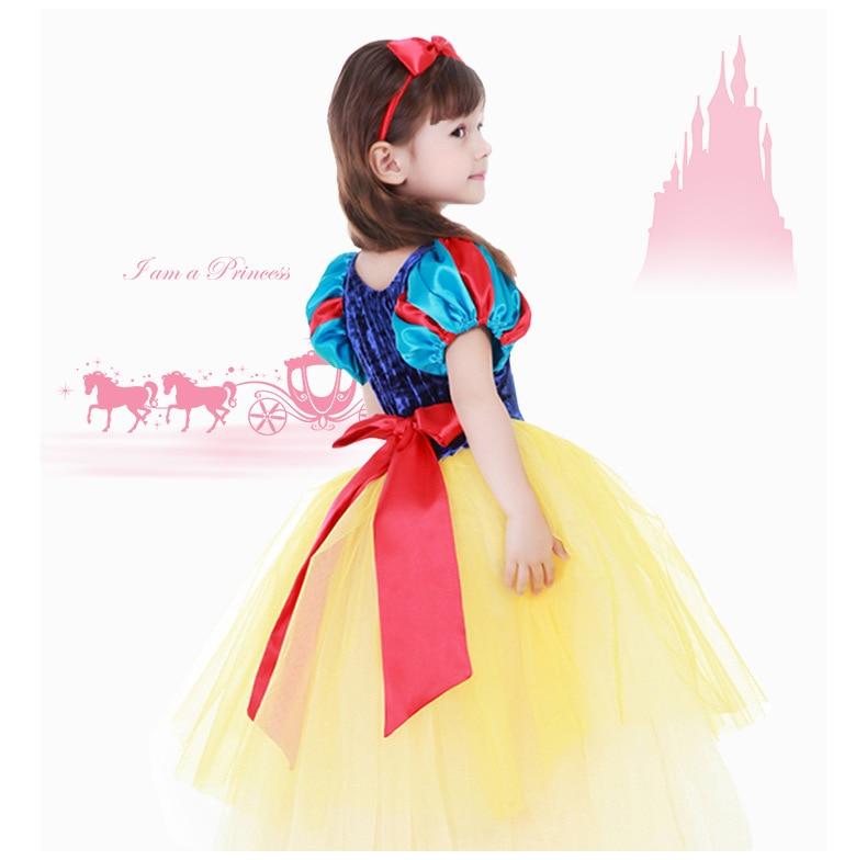 2015 hot sale snow white princess dress flower dress baby girl costume snow white cosplay halloween costumes snow white kids