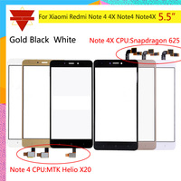 10pcs\lot Original TouchScreen For Xiaomi Redmi Note 4 Redmi Note 4X Touch Screen Sensor LCD Display Digitizer Front Outer Glass