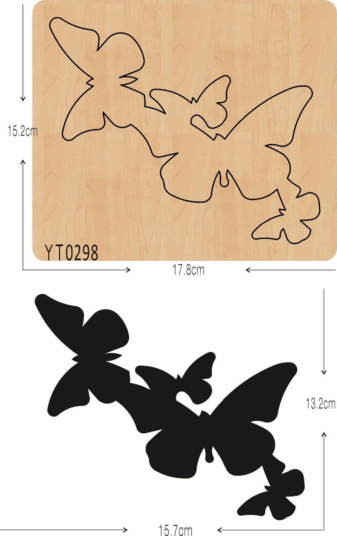 Papillon décoration BRICOLAGE en bois die/Album moule/outil de coupe die/YT0298