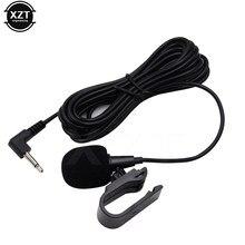 Mini microfone de áudio 3.5mm para carro, microfone estéreo com fio e entrada externa para pc auto dvd rádio novo