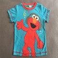 1 T Frete grátis Atacado Moda dos desenhos animados Sesame Street caráter do menino mangas curtas verão dos desenhos animados T shirt top tee