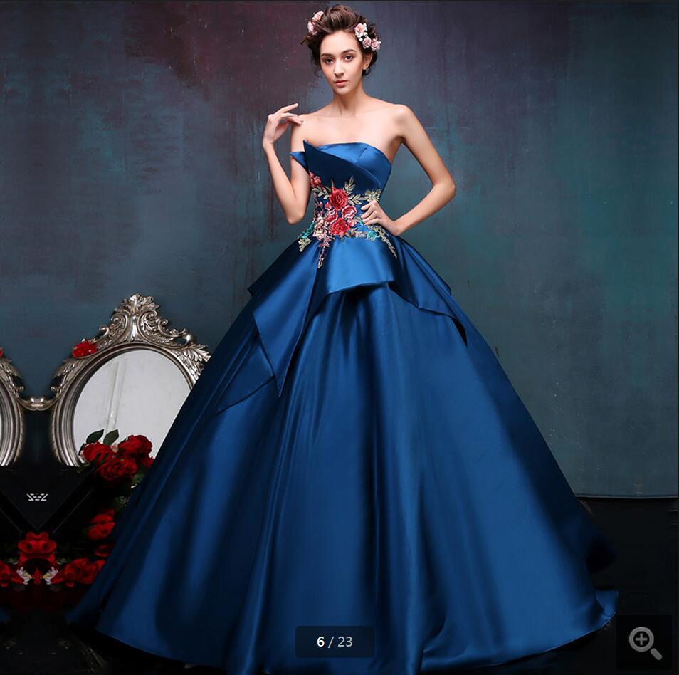 Popular Blue Princess Prom Dresses-Buy Cheap Blue Princess Prom ...