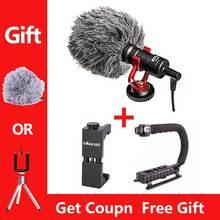 Boya BY-MM1 micrófono para la grabación de vídeo de la cámara MIC para la grúa de zhiyun DJI Osmo para el teléfono 7 Smartphone