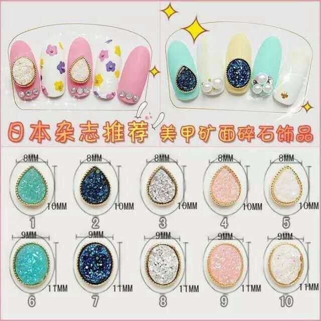 Wholesale 100Pcs/lot Japanese magazine style Nail surface gravel ...
