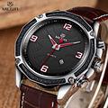 megir quartz watch men fashion genuine leather watches mens gifts wrist watch enamel painting wristwatch relogio masculino