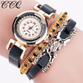 CCQ Fashion Leather Bracelet Watches Casual Women Wristwatch Luxury Brand Quartz Watch Relogio Feminino Gift 2061