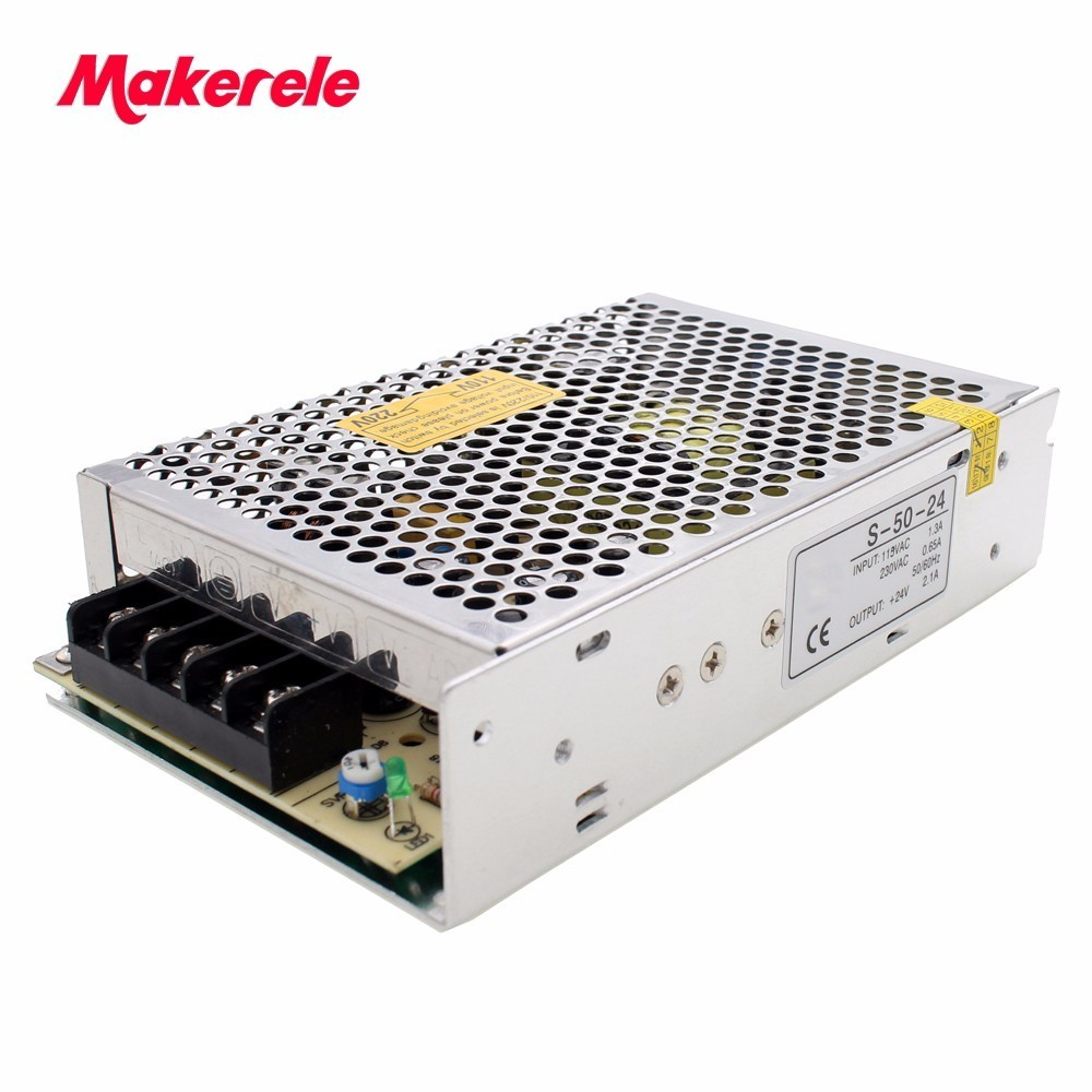 single output 24VDC switching power supply capable and stable 110/220VAC input 5/12/24/48v output from makerele