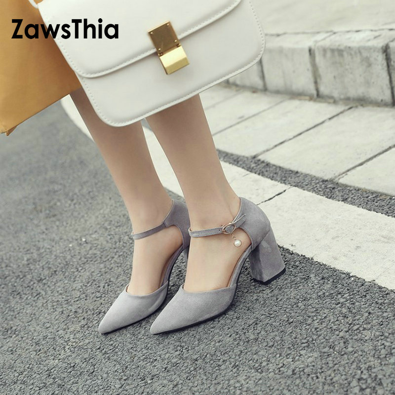 Detail Feedback Questions about ZawsThia 2019 chaussures femme ankle wrap high  heels summer ladies shoes with pearls fashion women sandals sandalias mujer  ... da44516cf58c