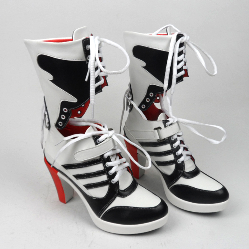 motorcycle joker and harley costumes sapato boots quinn women black chaussure suicide squad adult costume cosplay shoes