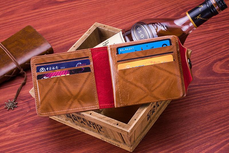 Men Vintage Wallet PU Leather Dollar Pattern Designer Men's Wallets Casual Credit Card Holder Purse Wallet For Male Money Bag (3)