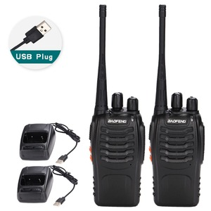 Image 1 - 2 sztuk Baofeng BF 888S Walkie Talkie USB Adapter do ładowarki Radio przenośne CB Radio UHF 888S Comunicador Transceiver + 2 słuchawki