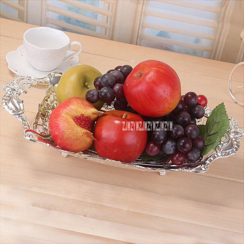 Nouveau mode Style européen plaqué argent métal fruits plaque gâteau plaque créative maison mariage Snack stockage plateau 3139/3134/3140