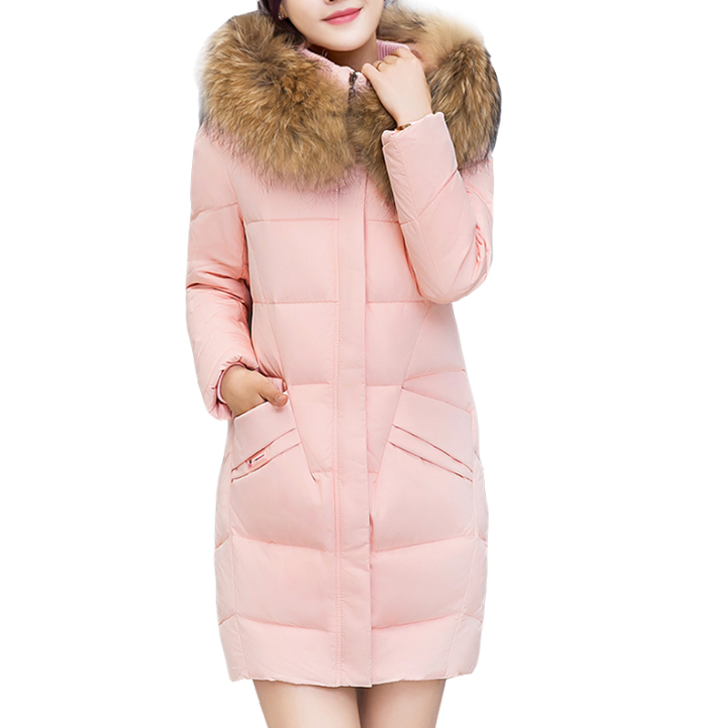 2017 Long Winter Coats Cotton Padded Women Jackets Luxury Big Faux Fur Collar Coat Thick Hooded Parka Plus Size 3xl Abrigo Mujer cukyi 2 slices bread toaster household automatic toaster breakfast spit driver breakfast machine