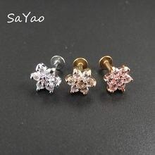 Sayao 1 шт 6 мм Длина 16 г кольцо для губ губа серьга ногтей