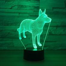3D светодиодный модель собака модель светодиодный модель с Творческий Игрушечные лошадки интерьера украшение подарки