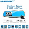 Car DVRS full HD 1080P 4.3 inch rear view mirror with camera Video recorder Car-Styling DVRS with dual lens dashcam Camcorders