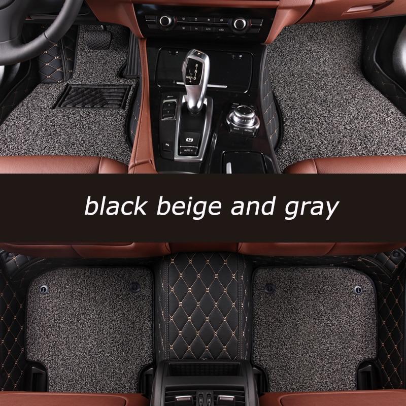 Kalaisike Personnalisé tapis de sol de voiture Pour Audi tout modèle A1 A3 A4 A5 A6 A8 A7 Q3 Q5 Q7 S3 S5 S6 S7 S8 R8 TT SQ5 SR4-7 style de voiture
