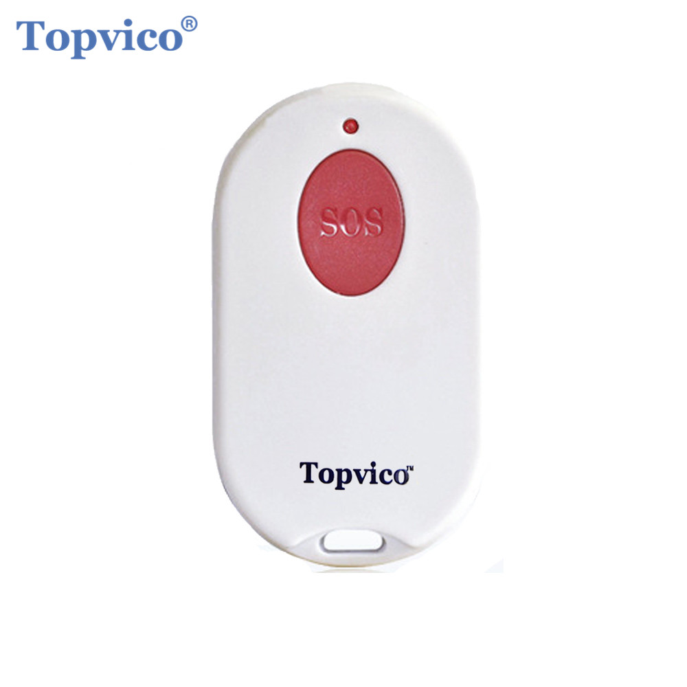 Topvico RF 433mhz Emergency Button SOS Panic Button Elderly Alarm Keychain Controller Old People GSM Home Security Alarm System