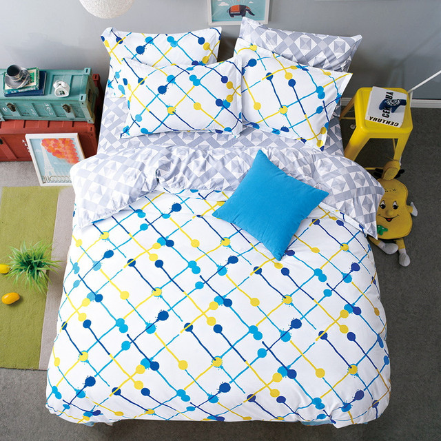 Twin Flat Sheets King Size Pretty Geometric Plaid Bed Sheets Queen Size Bed  Lines Multicolor Grids