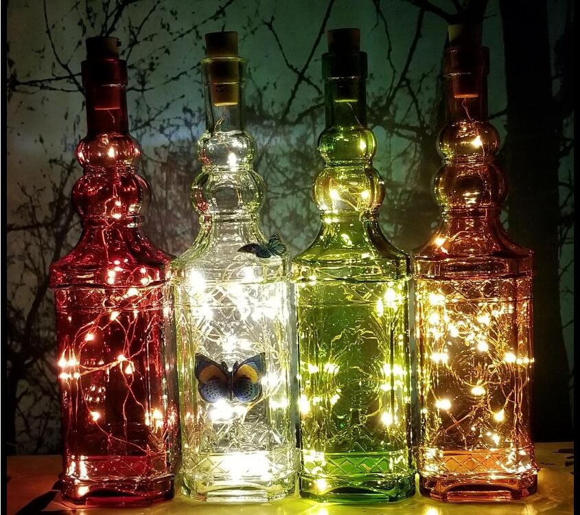 Waterproof Bottle Cork LED Night Light Wine Bottle String Mini Copper Wire Battery Operated Starry Night Lights DIY Christmas