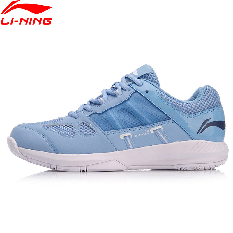 Li Ning Women PROTECTOR Badminton Training Shoes Wearable Stable Support LiNing Breathable Sport Shoes Sneakers AYTN054