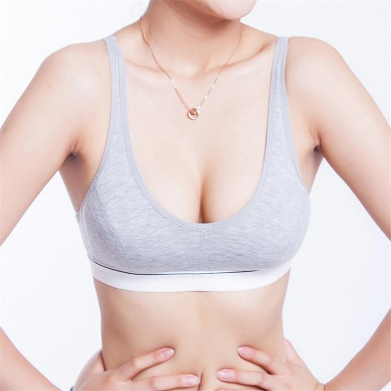 2018 Nuevas mujeres sexy Sujetador deportivo Busto de algodón Push Up Ropa interior Sujetador Sujetador 70 75 80 85 Tamaño (32 34 36 38) ZM14