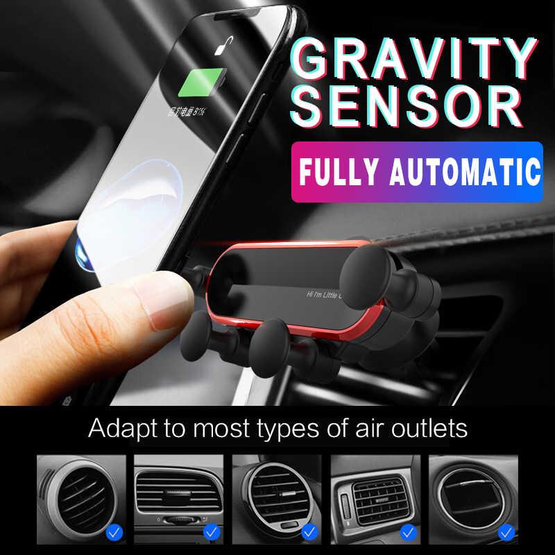 الجاذبية حامل هاتف السيارة سيارة الهواء تنفيس حامل للسيّارة آيفون 8 X XS ماكس سامسونج شاومي حامل هاتف المحمول حامل عالمي