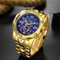 Large dial TEMEITE brand mens wristwatch luxury quartz steel waterproof man watches Multifunction men's clocks Citizen movement