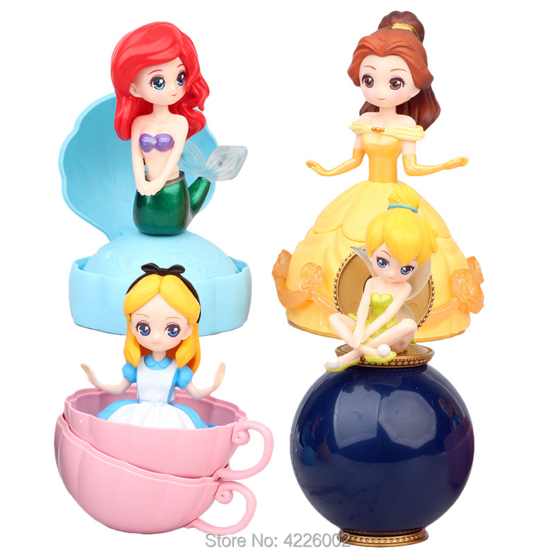 LOL Princess Ball Alice Action Figures Tinkerbell Little Mermaid Tangled Model Collectible Doll Kids Toy For Children Girls Gift