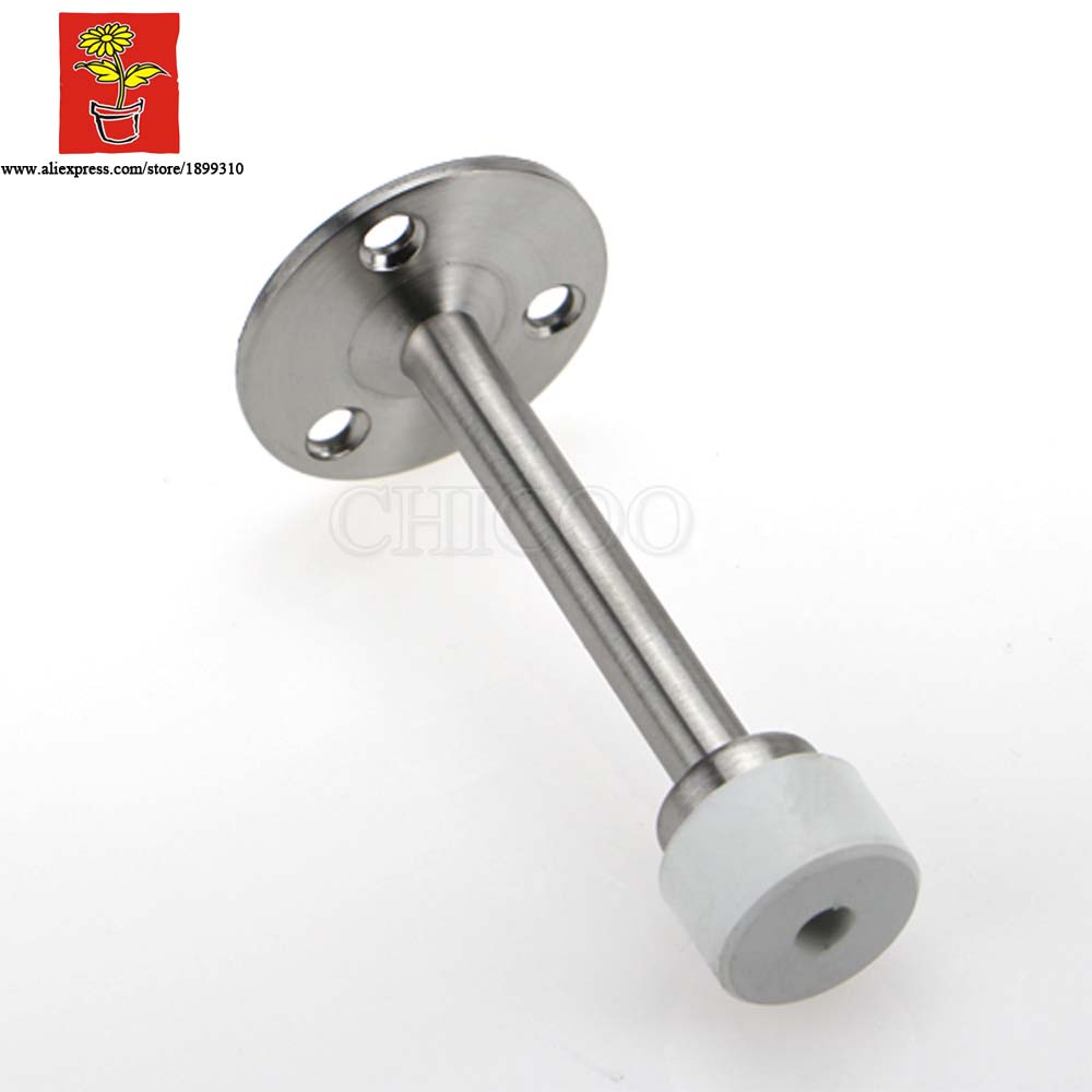 Online Shop Wholesale 10PCS 304 Stainless Steel Wall Mounted Door Stopper ,  White Rubber Doorstops,decorative Door Stop | Aliexpress Mobile