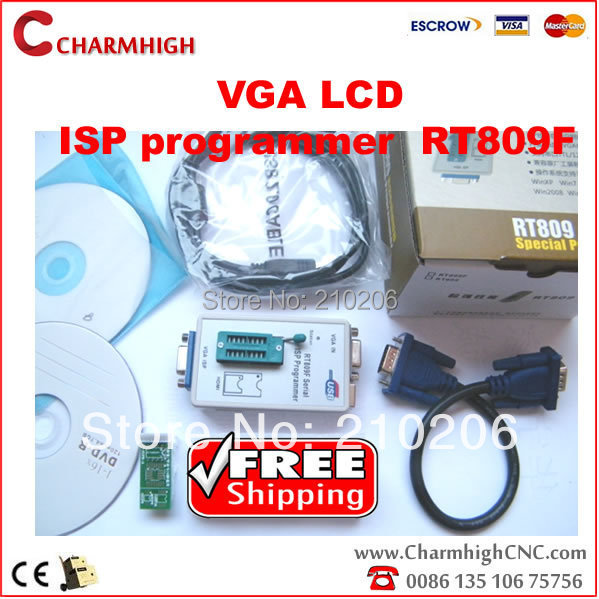 Discount VGA LCD ISP programmer RT809F Serial ISP Programmer 1 adapter PC Repair 24 25 93