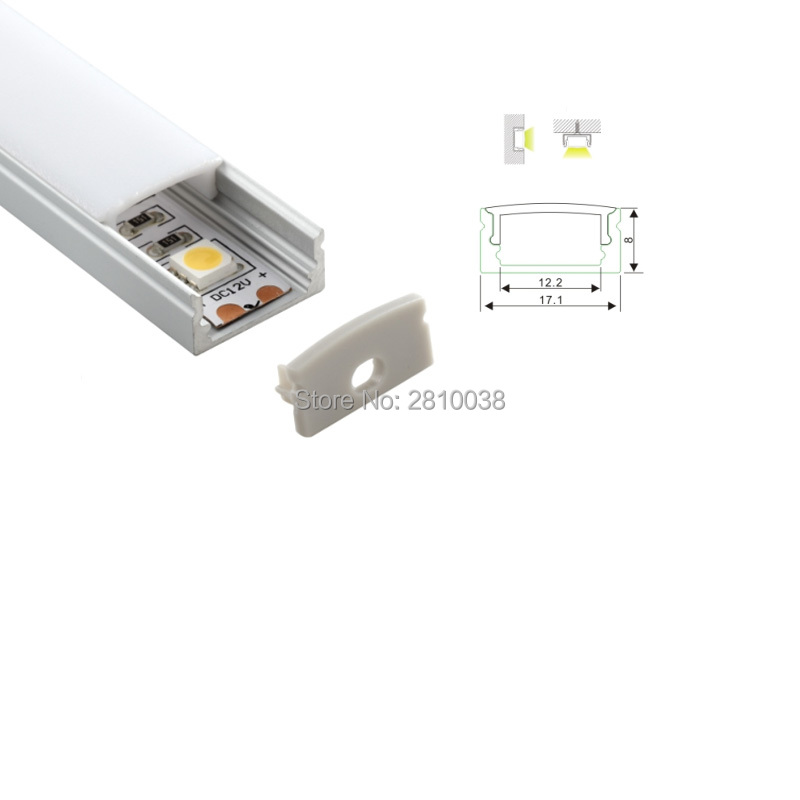 500 X 1M Sets/Lot 6000 series led aluminum profile and slim U type profile channel led for wall or floor lamps