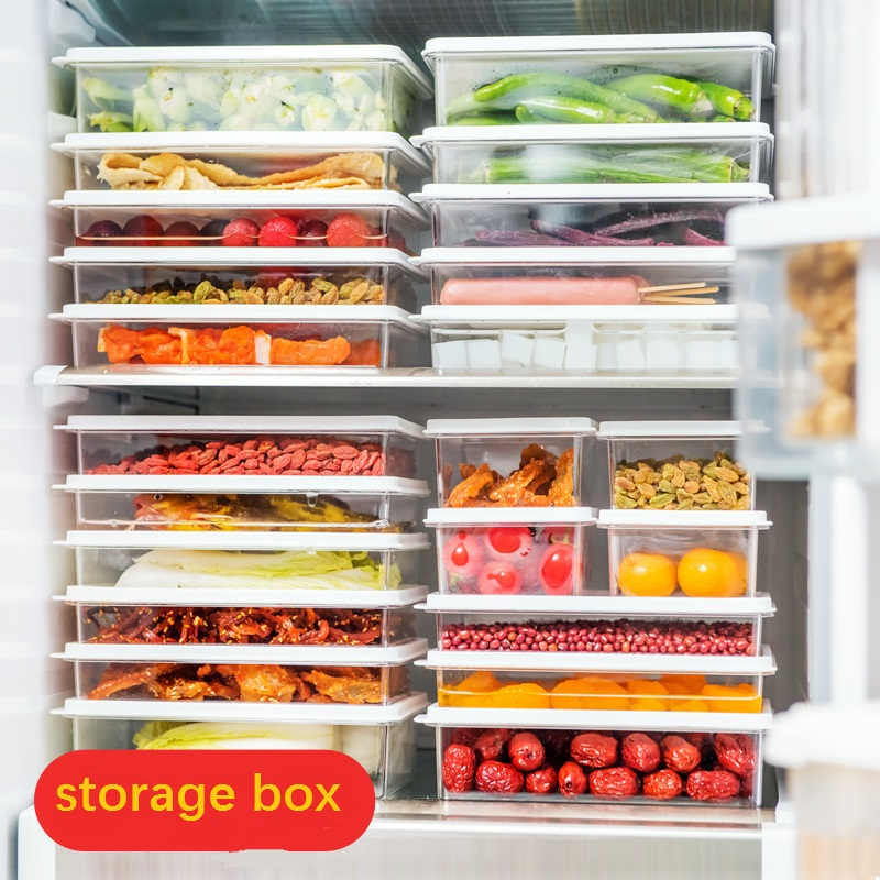 Plastic transparent food storage box refrigerator food fruit crisper kitchen with lid sealed storage box foot operated 5 way 2 position direct acting pneumatic pedal valve