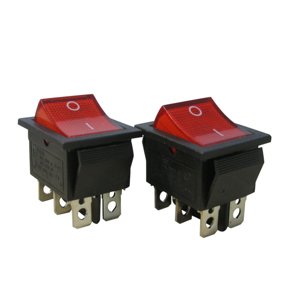 125V//10A Red Light Illuminated ON//Off SPST 3 Pin 2 Position Mini Boat Rocker Switches Car Auto Boat Rocker Toggle Switch Snap (Warranty 1 Years)KCD1-5-101N-R Taiss 10Pcs AC 250V//6A