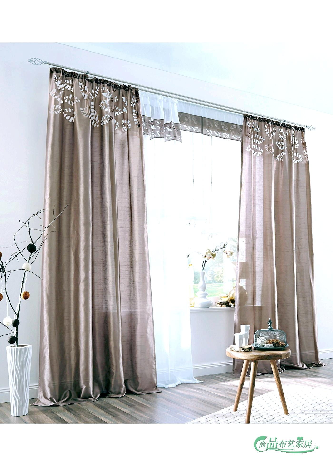 Hot Selling 3 Colors Artificial Silk Fabric Laser Cutting Window Curtain Free Shipping