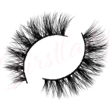 Free shipping 3d luxury 100% real mink strip lashes lilly lashes j make up natural fluffy soft mink lashes