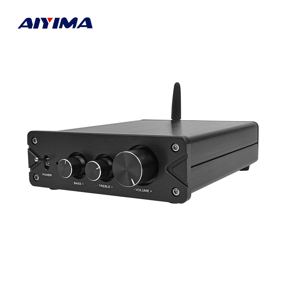 Aiyima Amplificador Bluetooth 5.0 Tpa3116 2.0 Fever Digital Class D Power Amplifiers Audio Board 100wx2 With Pcm5102 Dac Decoder