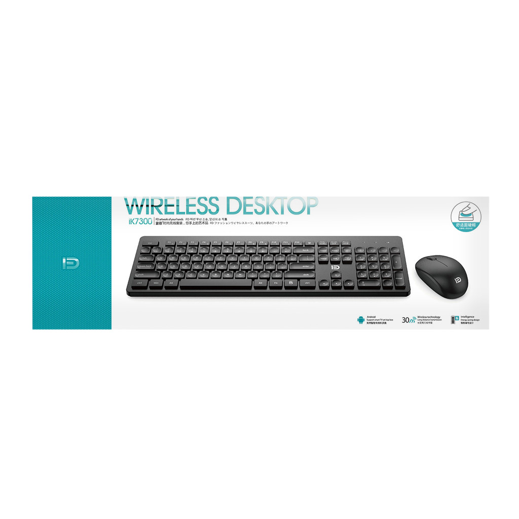 Image 4 - 2.4GHz USB Wireless Keyboard And Mouse Combos For Fashion Office Business Teclado Sem Fio For Smart TV Laptop Computer PC Gamer-in Keyboard Mouse Combos from Computer & Office