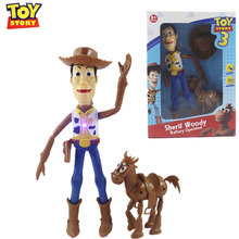 Disney Pixar Toy Story 4 Woody Sheriff Buzz Lightyear Jessie toy story decoration cowboy kids Educational Model For Children
